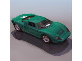 Ford GT40 racing car 3d model