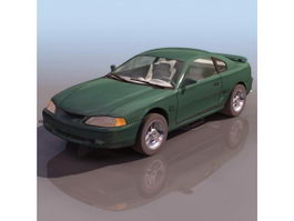 Ford Mustang Automobile Pony car 3d model