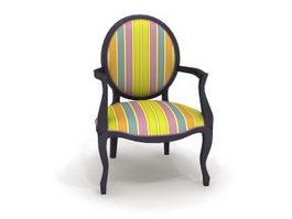 Antique arm chair 3d model