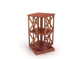 Decorate bookcase 3d model