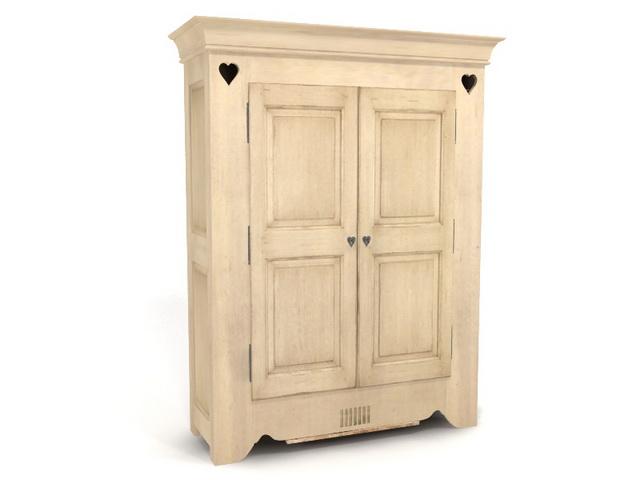 2 Doors Antique Closet 3d Model