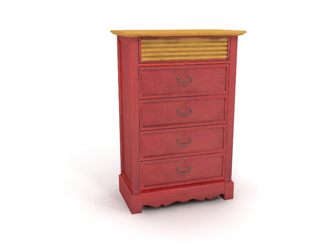 4 drawers antique dresser 3d model 3dsmax files free downloa