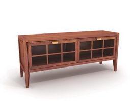 Wood side cabinet 3d model