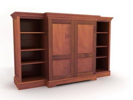 Antique wardrobe armoire 3d model