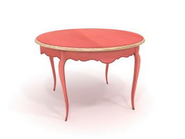 Antique round coffee table 3d model