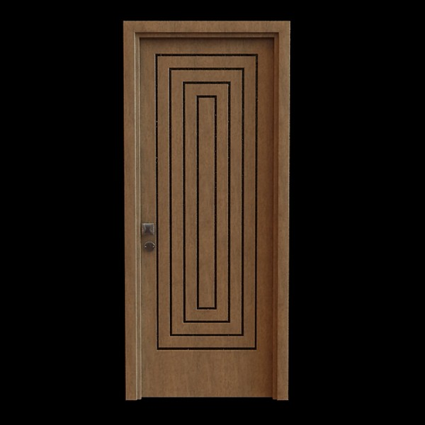Modern wood door 3d model 3dsmax files free download for Door design new model 2017