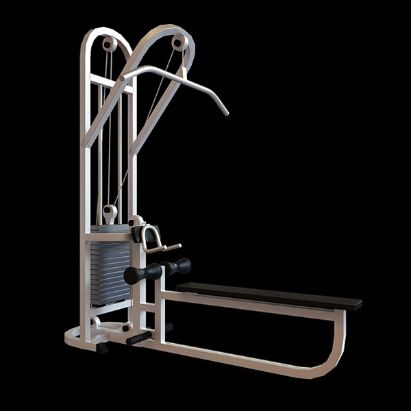 Back Extension Gym Equipment 3d Model 3dsmax Files Free