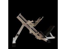 Incline leg press 3d model