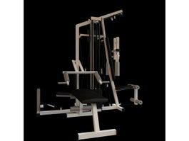 Commercial gym equipment 3d model
