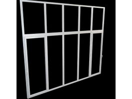 Aluminium casement window 3d model