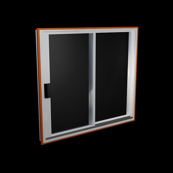 Aluminum sliding window 3d model 3dsmax files free for Window 3d model