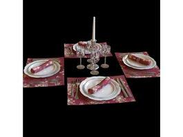 Luxury tableware 3d model
