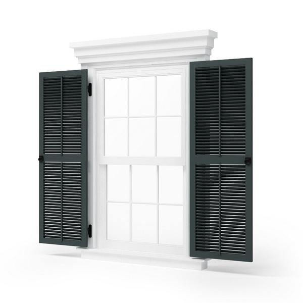 Double Casement Blind Window 3d Model 3dsmax Files Free