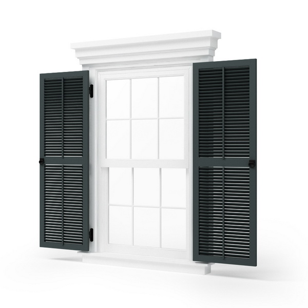 Double Casement Blind Window 3d Model Cadnav