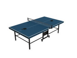 Folded Ping Pong Table 3d model
