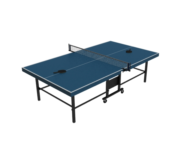 Folded Ping Pong Table 3d Model 3dsmax Files Free Download Modeling