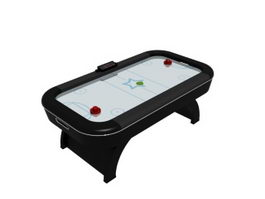 Table game air hockey table 3d model