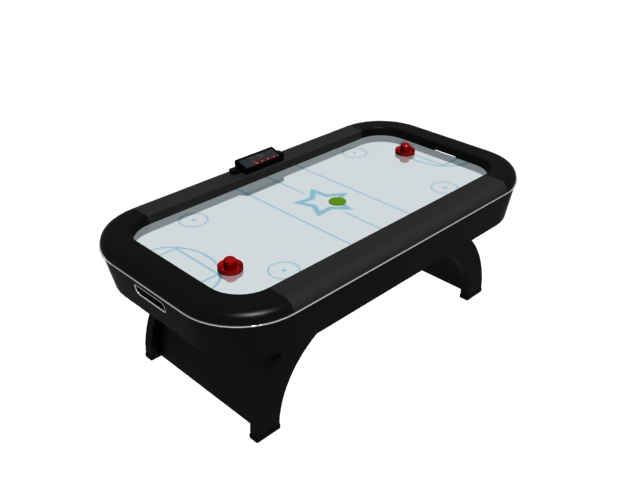 Table Game Air Hockey Table 3d Model 3dsmax Files Free Download