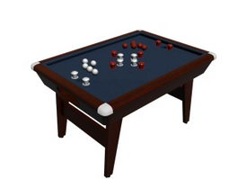 Table top football 3d model