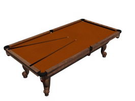 Antique billiard table 3d model
