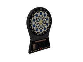 Electric dart board machine 3d preview