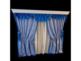 Fancy curtain fabric 3d model