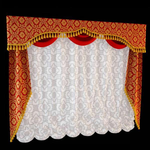 Opera shade curtain fabric 3d model