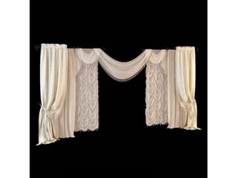 Wedding decoration drapes 3d model