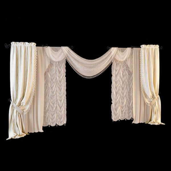 Wedding decoration drapes 3d model 3dsmax files free for 3d decoration models
