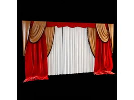 Decoration stage curtains 3d model