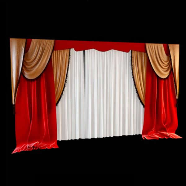Decoration Stage Curtains 3d Model 3dsmax Files Free