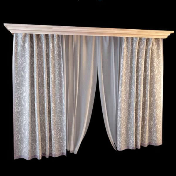 Fashion Window Curtain 3d Model 3dsmax Files Free Download