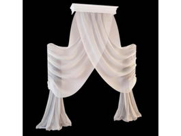 Scarf sheer drapery 3d model