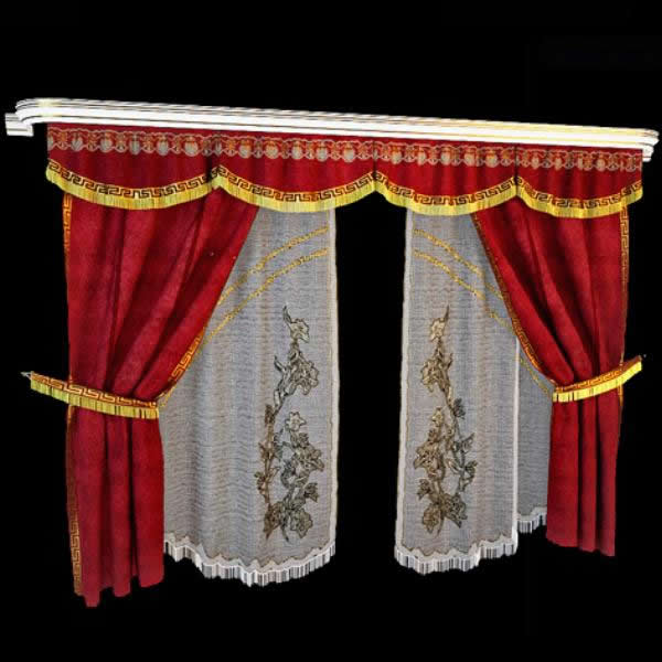 Cascades valance curtain 3d model 3dsmax files free download ...