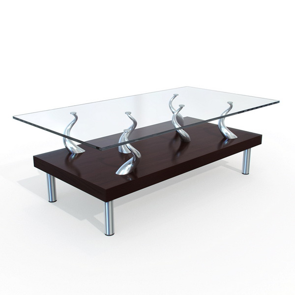 Glass Tea Coffee Table 3d Model 3dsmax Maya Files Free