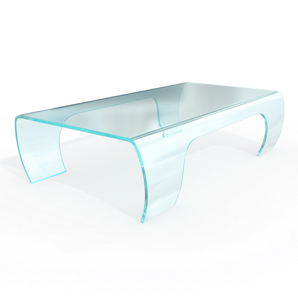 Modern Bent Glass Coffee Table 3d Model 3dsmax Maya Files Free Download Modeling 9690 On Cadnav