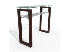 Glass bar table 3d model