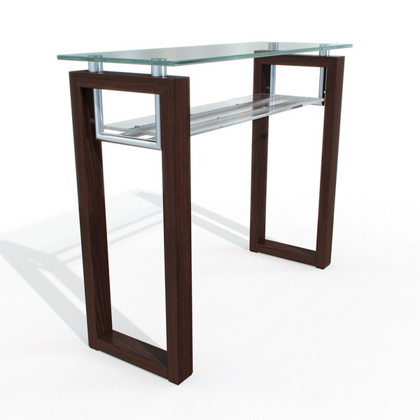 Glass Bar Table 3d Model