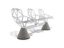 Public seating system 3d model