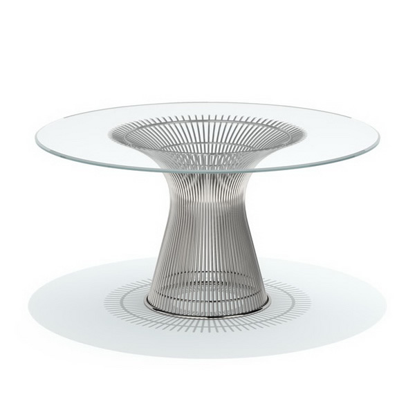 Knoll Platner dining table 3d model 3dsmax files free download
