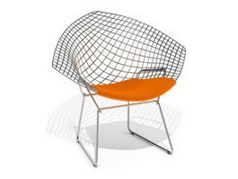 Knoll Bertoia wire diamond chair 3d model
