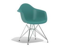 Ray Eames DAR plastic dining armchair 3d model
