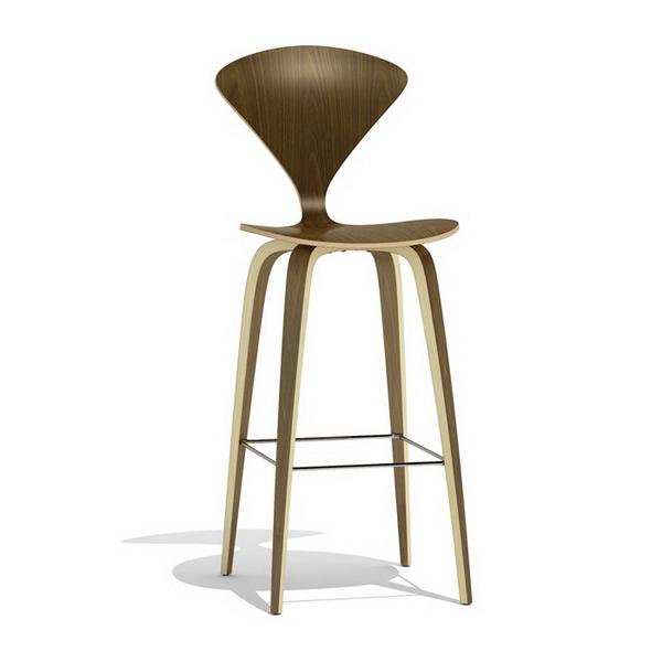 Norman cherner bar stool wood base 3d model 3dsmax files free download modeling 9851 on cadnav - Norman cherner barstool ...