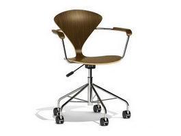 Norman Cherner task chair 3d model