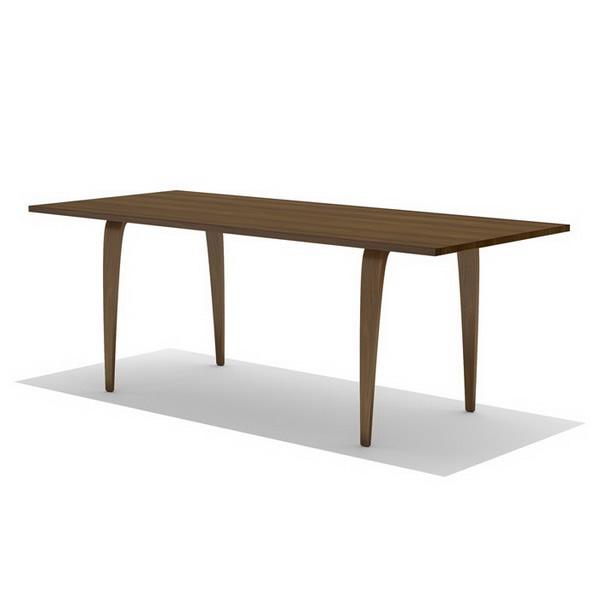 Norman Cherner Rectangular Table D Model Dsmax Files Free Download - Cherner dining table