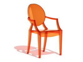 Philippe Starck ghost armchair 3d model