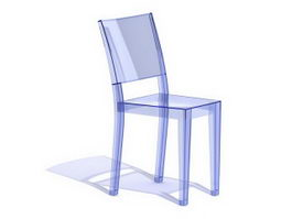 Plastic chairs 3d model free download for Chaise la marie starck