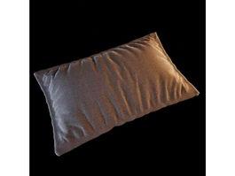Pillow and pillowcase 3d model
