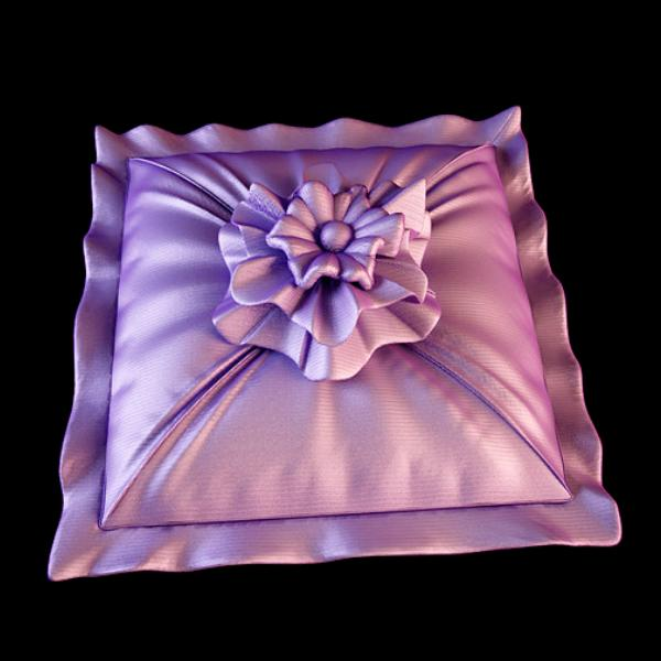 Rose Ruffle Embroidery Cushion 3d Model 3dsmax Files Free