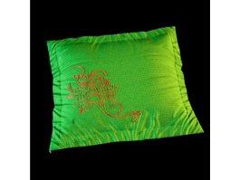 Embroidery sofa cushion 3d model